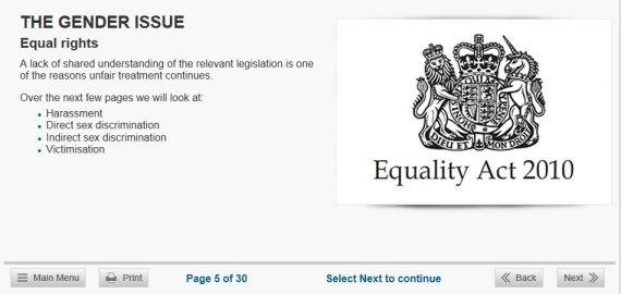 Sex dicrimination act england
