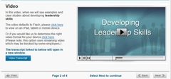 developing leadership elearning course