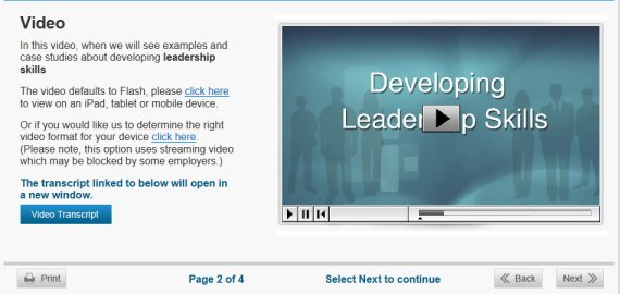 developing leadership course