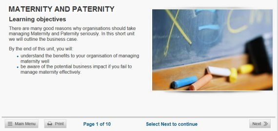 maternity paternity online training