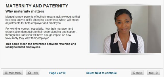 maternity paternity elearning