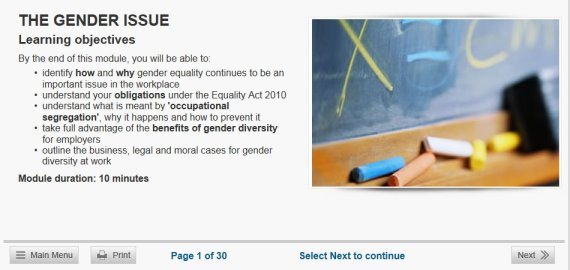 gender equality course